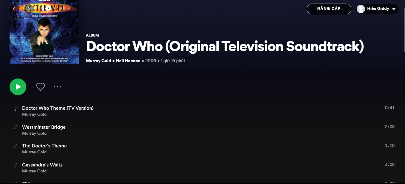 Tổng hợp Doctor Who Soundtrack